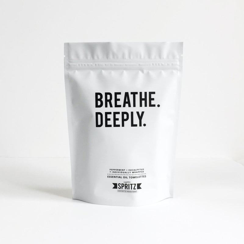 Breathe Deeply Wipe by Happy Spritz - biodegradable, organic