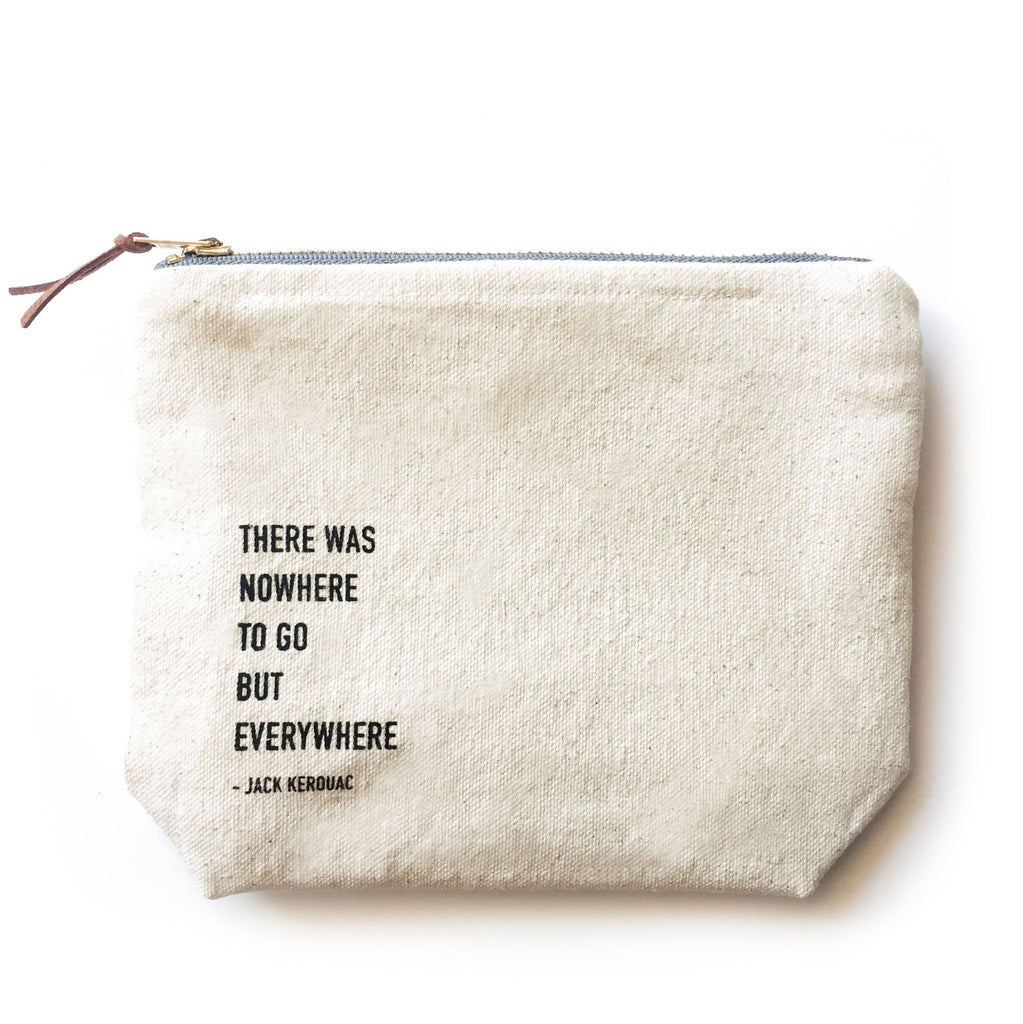 Spritz Travels Canvas Bag with Jack Kerouac Quote