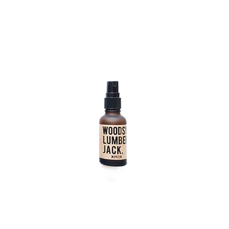 Happy Spritz Woodsy Lumberjack Cedarwood and Pine Essential Oil Spray for Men
