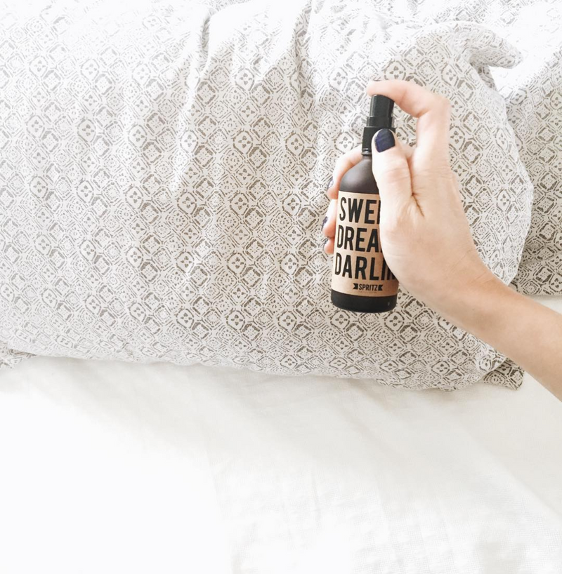 Happy Spritz Sweet Dreams Darling - Lavender and Chamomile Essential Oil Spray that helps you get asleep fast!
