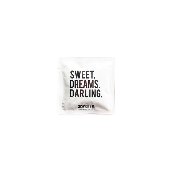 Sweet Dreams Darling Lavender Essential Oil Wipe by Happy Spritz