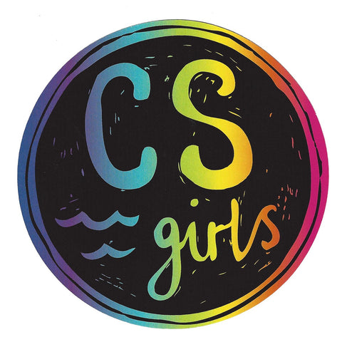 Csa girls round sticker colour