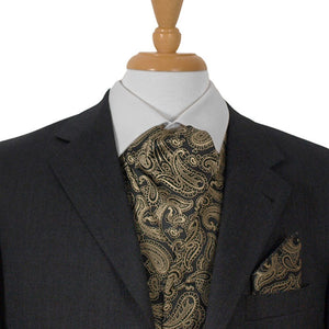 Black And Gold Paisley Ascot