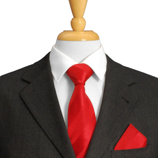 Striped Red Tie