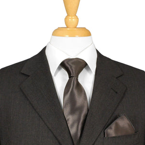 Charcoal Grey Satin Tie
