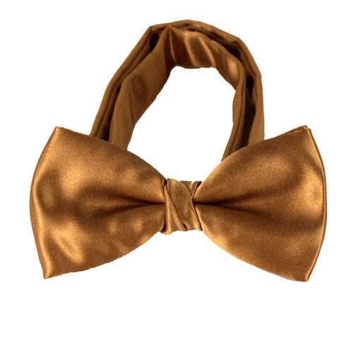 Boys Gold Bow Tie
