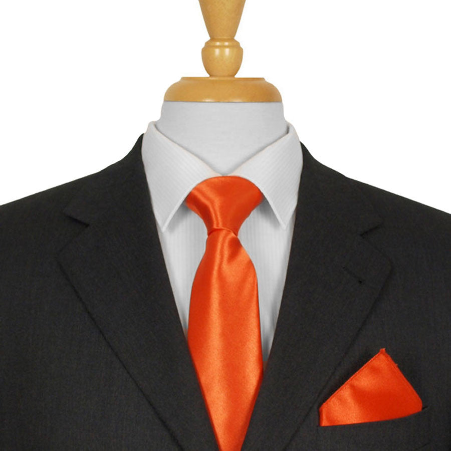 Orange Satin Ties
