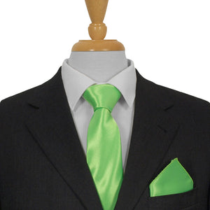 Green Satin Ties