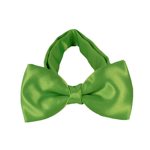 Kids Fluoro Green Bow Tie