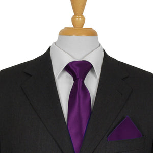 Purple Satin Ties