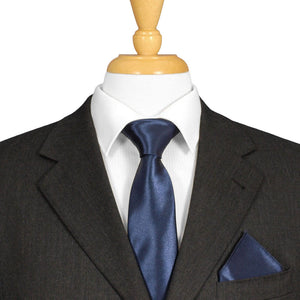 Navy Blue Satin Ties