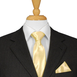 Yellow Satin Ties