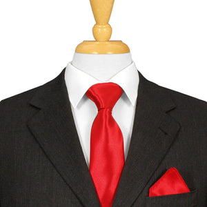 Red Satin Ties