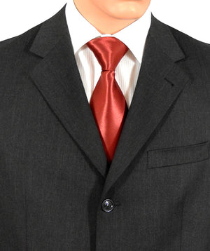 Deep Red Satin Tie