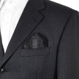 Black Floral Pocket Squares