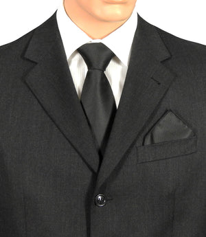 Black Fine Striped Tie