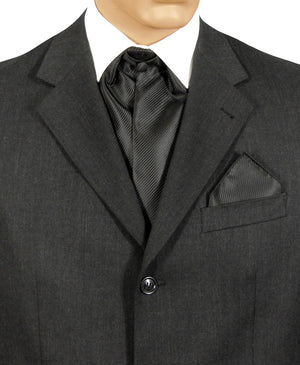 Black Fine Striped Cravat