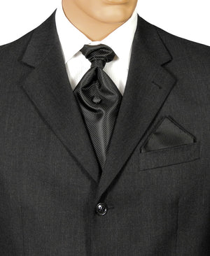 Black Fine Stripe Fat Boy Tie