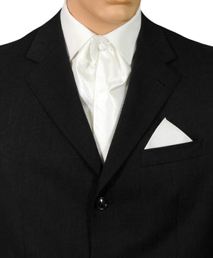 Ivory Fine Striped Cravat