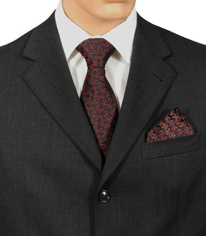 Wedding Tie Burgundy & Black