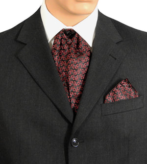 Cravat Black And Burgundy