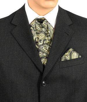 Black And Gold Paisley Cravats