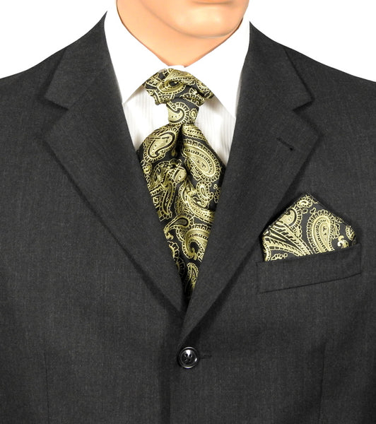 Fat Boy Ties Black And Gold