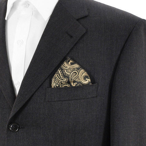 Black And Gold Paisley Hank