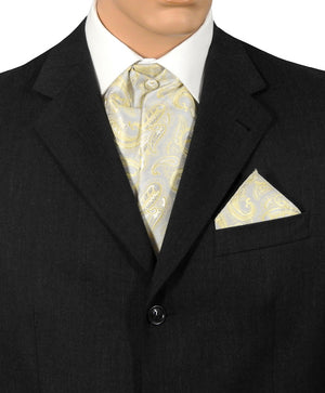 Silver And Gold Paisley Cravat