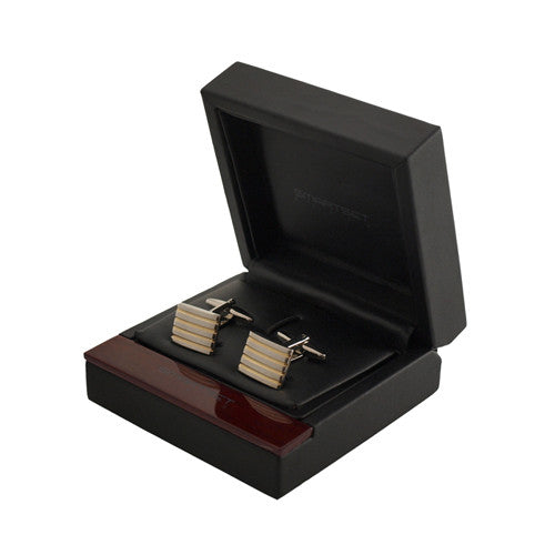 Gold Stripe Cufflinks