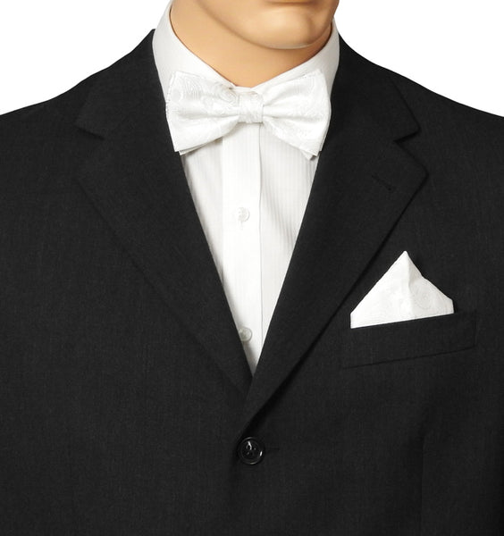 White Tapestry Bow Tie