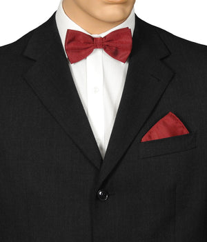 Red Herringbone Bow Ties