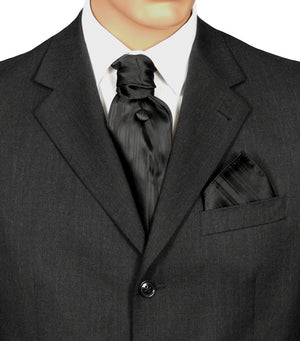 Black Striped Fat Boy Tie