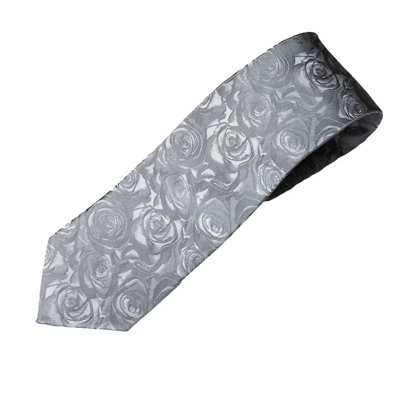 Carlo Visconti Ties Silver Rose