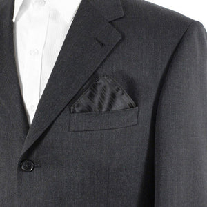 Black Striped Pocket Handkerchief