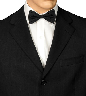 Black Beaded Bow Tie