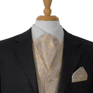 Silver And Gold Paisley Ascot