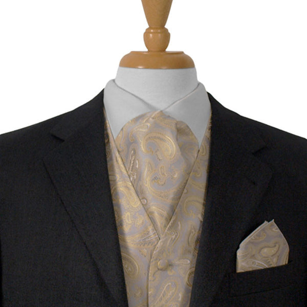 Ascot Tie Silver And Gold