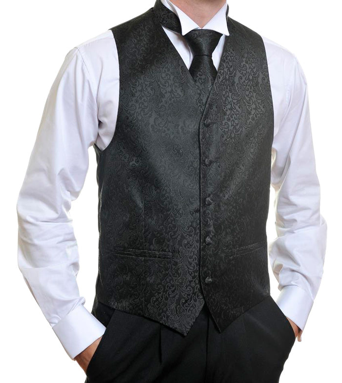 Black Wedding Vest