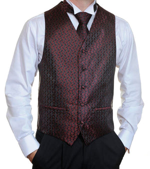 Burgundy and Black Vest