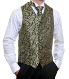 Black and Gold Paisley Vest