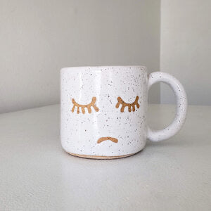 Smiley/Frown Mug: Bowl Cut Ceramics