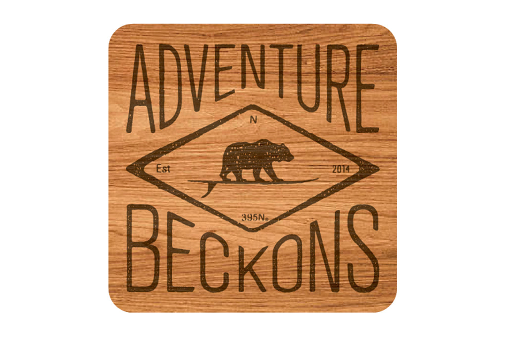 Adventure Beckons Bear Coaster Set