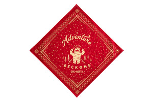 "Mountain Yeti ""BIG-OLE"" Adventure Beckons bandana Black/Red"