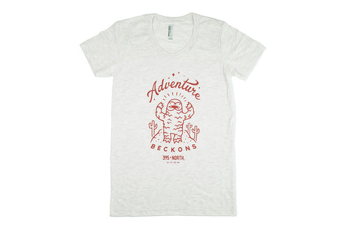 Desert Yeti - Adventure Beckons T-shirt - Women's