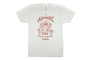 Desert Yeti - Adventure Beckons T-shirt - Unisex/Men's