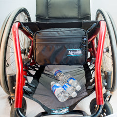 WH175 Wheelchair Deluxe Down Under - Under Seat Bag with WH190 Wheelchair Catch- All -Cargo Net