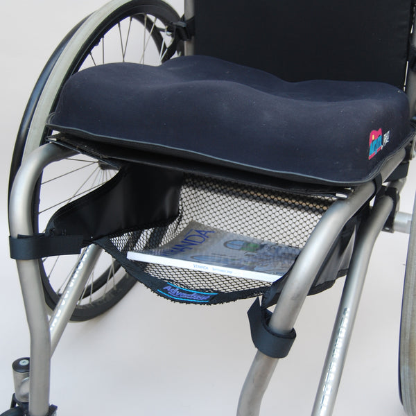 WH190-2 WHEELCHAIR CATCH-ALL TOO™  wheelchair under seat cargo net bag