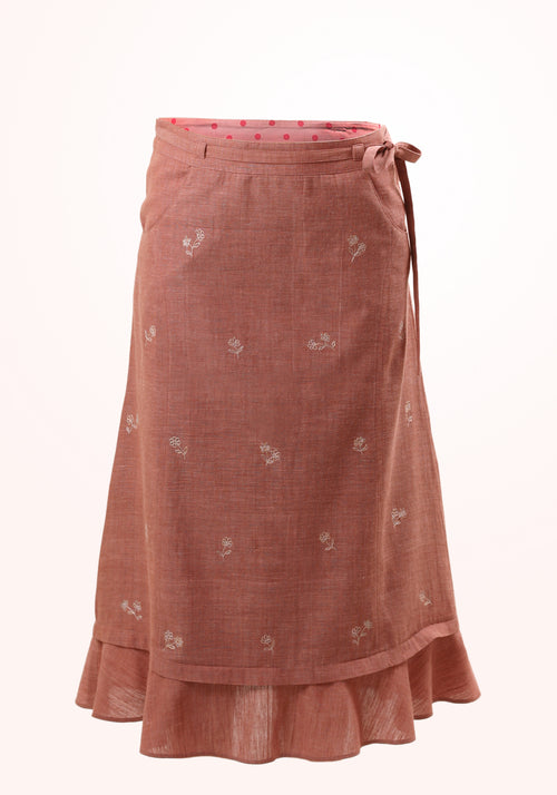Desert Rose Girls Skirt in Cotton Khadi
