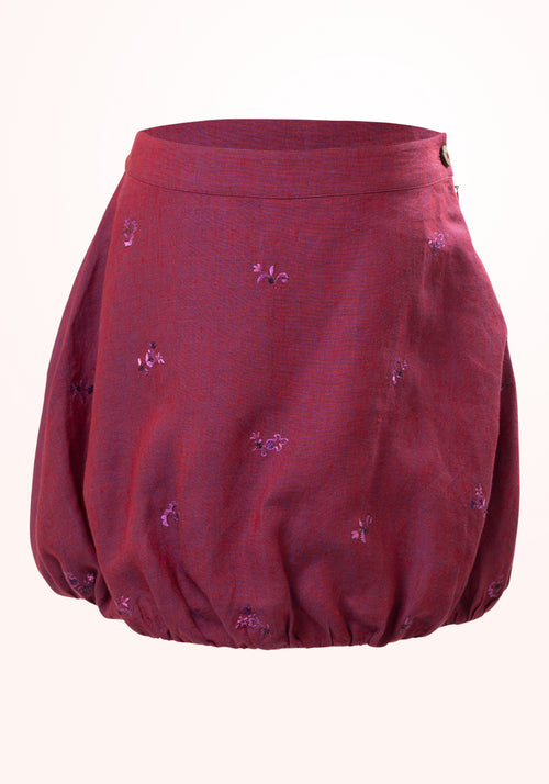 Sangria Girls Skirt in Purple Linen